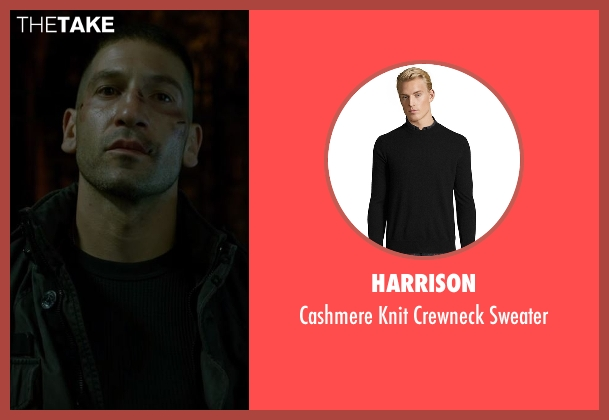 Harrison black sweater from Daredevil seen with Frank Castle / The Punisher (Jon Bernthal)