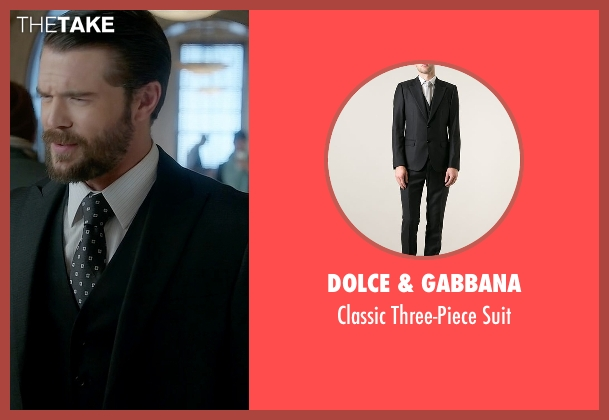 Dolce & Gabbana black suit from How To Get Away With Murder seen with Frank Delfino  (Charlie Weber)
