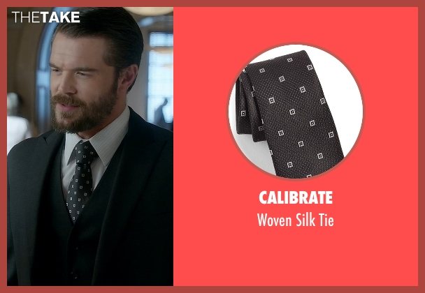 Calibrate black tie from How To Get Away With Murder seen with Frank Delfino  (Charlie Weber)