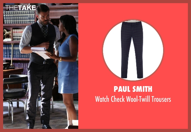 Paul Smith black trousers from How To Get Away With Murder seen with Frank Delfino  (Charlie Weber)