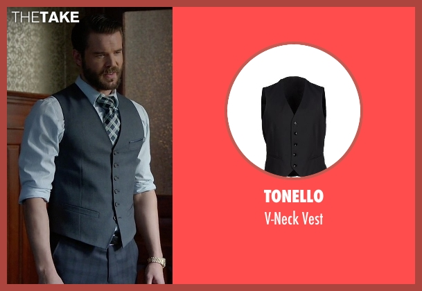 Tonello black vest from How To Get Away With Murder seen with Frank Delfino  (Charlie Weber)