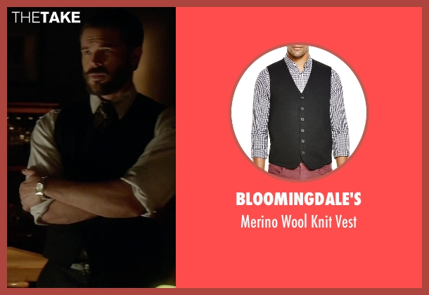Bloomingdale's black vest from How To Get Away With Murder seen with Frank Delfino  (Charlie Weber)