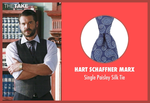 Hart Schaffner Marx blue tie from How To Get Away With Murder seen with Frank Delfino  (Charlie Weber)