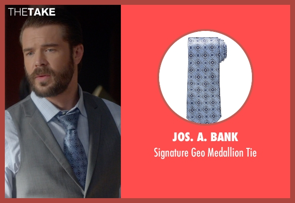 JoS. A. Bank blue tie from How To Get Away With Murder seen with Frank Delfino  (Charlie Weber)