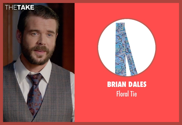 Brian Dales blue tie from How To Get Away With Murder seen with Frank Delfino  (Charlie Weber)