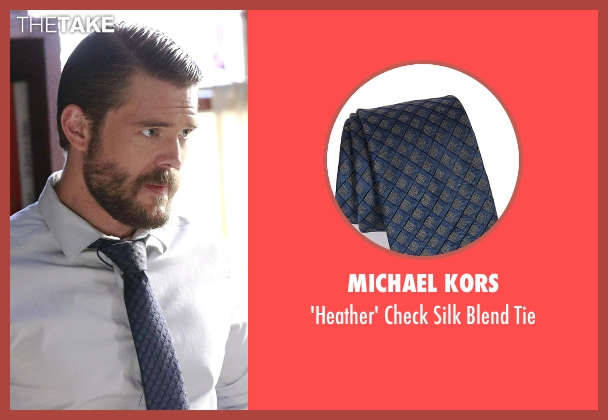 Michael Kors blue tie from How To Get Away With Murder seen with Frank Delfino  (Charlie Weber)