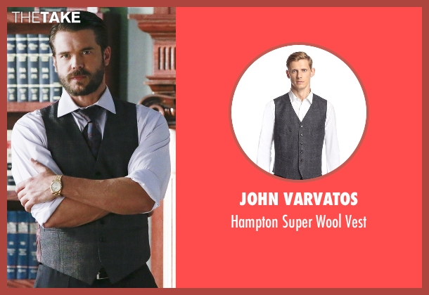 John Varvatos gray vest from How To Get Away With Murder seen with Frank Delfino  (Charlie Weber)
