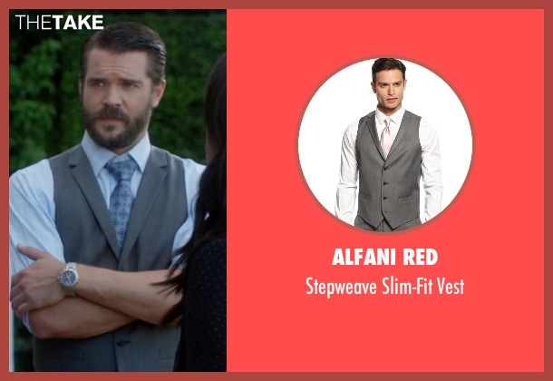 Alfani Red gray vest from How To Get Away With Murder seen with Frank Delfino  (Charlie Weber)