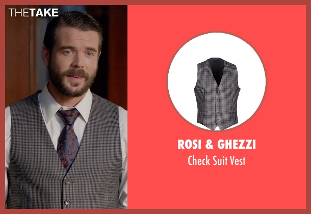 Rosi & Ghezzi gray vest from How To Get Away With Murder seen with Frank Delfino  (Charlie Weber)