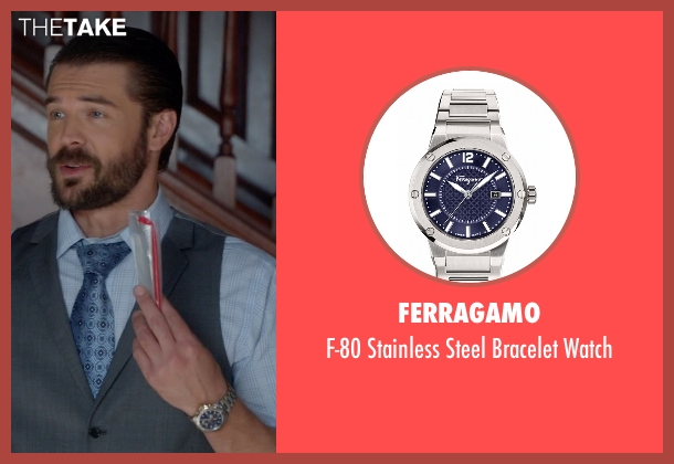 Ferragamo silver watch from How To Get Away With Murder seen with Frank Delfino  (Charlie Weber)
