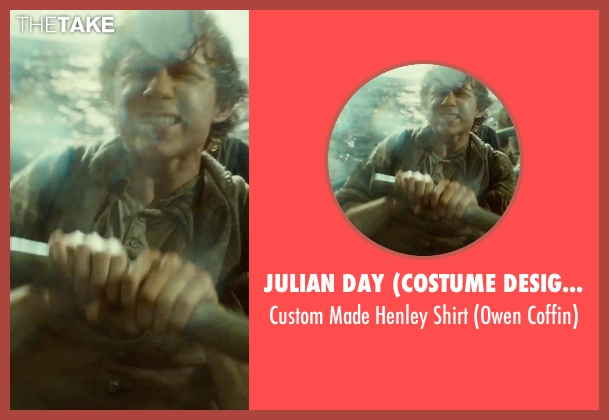 Julian Day (Costume Designer) brown shirt from In the Heart of the Sea seen with Frank Dillane (Owen Coffin)