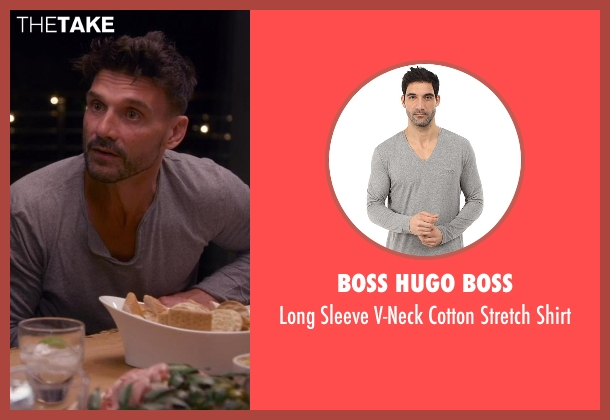 Boss Hugo Boss gray shirt from Chelsea seen with Frank Grillo