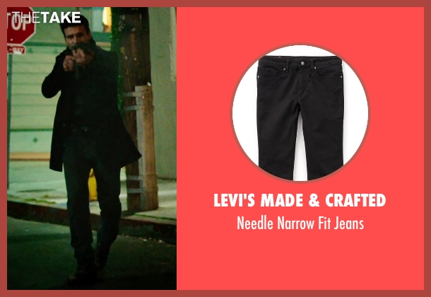 Levi's Made & Crafted black jeans from The Purge: Anarchy seen with Frank Grillo (Sergeant)