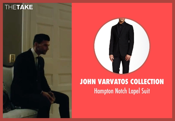 John Varvatos Collection black suit from The Purge: Election Year seen with Frank Grillo (Sergeant)