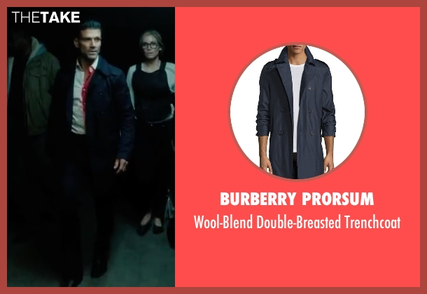 Burberry Prorsum blue trenchcoat from The Purge: Election Year seen with Frank Grillo (Sergeant)