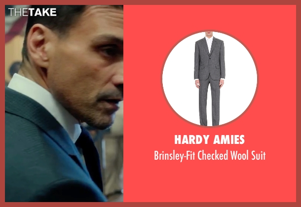 Hardy Amies gray suit from The Purge: Election Year seen with Frank Grillo (Sergeant)