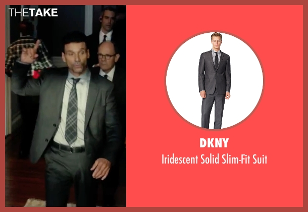 DKNY gray suit from The Purge: Election Year seen with Frank Grillo (Sergeant)