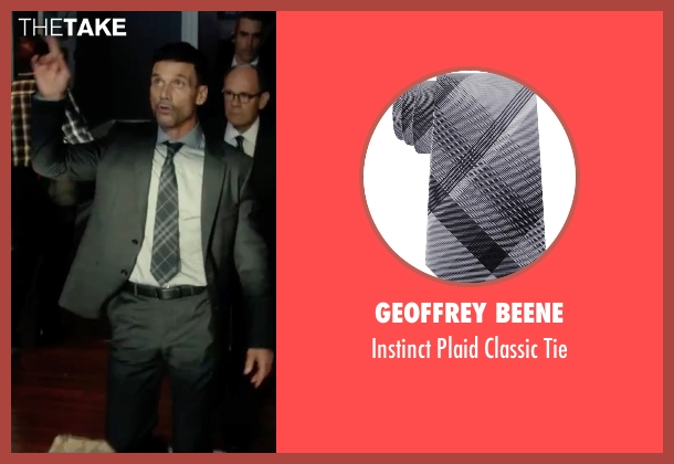 Geoffrey Beene gray tie from The Purge: Election Year seen with Frank Grillo (Sergeant)