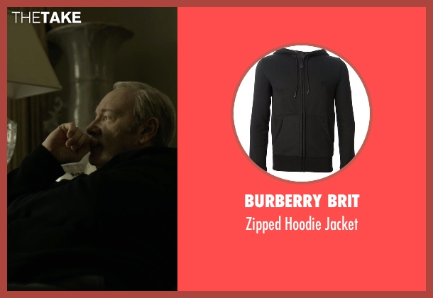 Burberry Brit black jacket from House of Cards seen with Frank Underwood (Kevin Spacey)