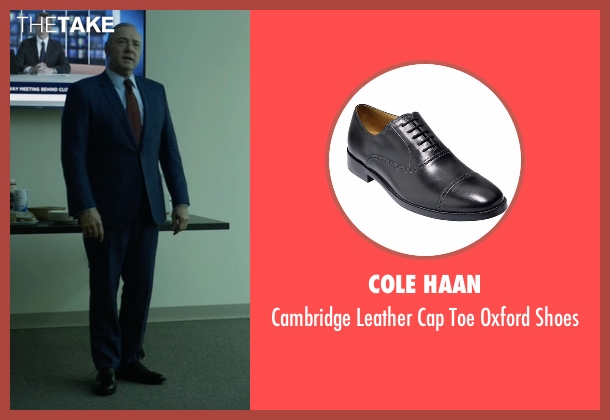 Cole Haan black shoes from House of Cards seen with Frank Underwood (Kevin Spacey)