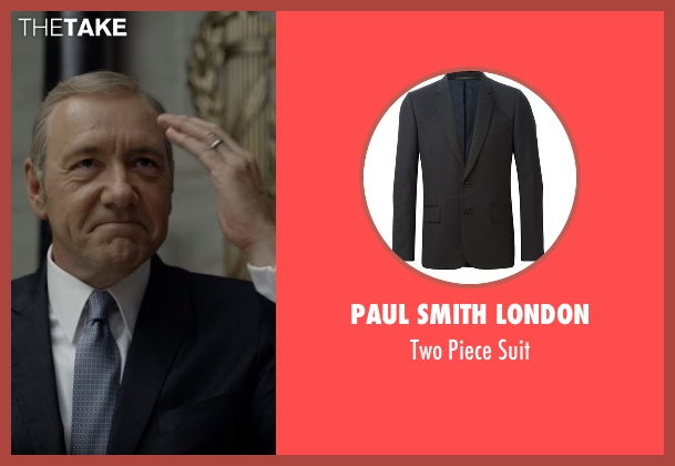 Paul Smith London black suit from House of Cards seen with Frank Underwood (Kevin Spacey)