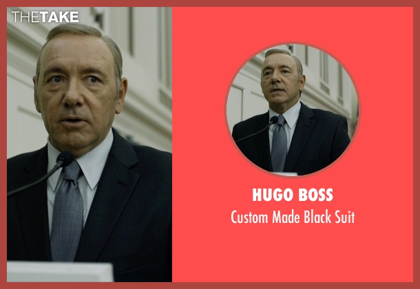 Hugo Boss black suit from House of Cards seen with Frank Underwood (Kevin Spacey)