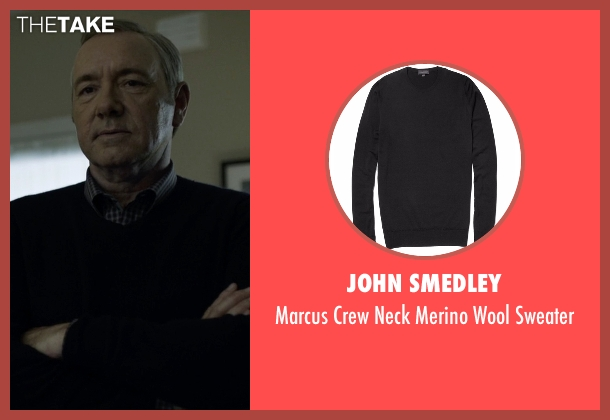 John Smedley black sweater from House of Cards seen with Frank Underwood (Kevin Spacey)