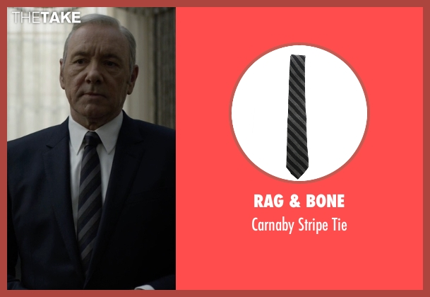 Rag & Bone black tie from House of Cards seen with Frank Underwood (Kevin Spacey)