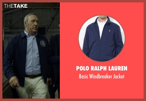 Polo Ralph Lauren blue jacket from House of Cards seen with Frank Underwood (Kevin Spacey)