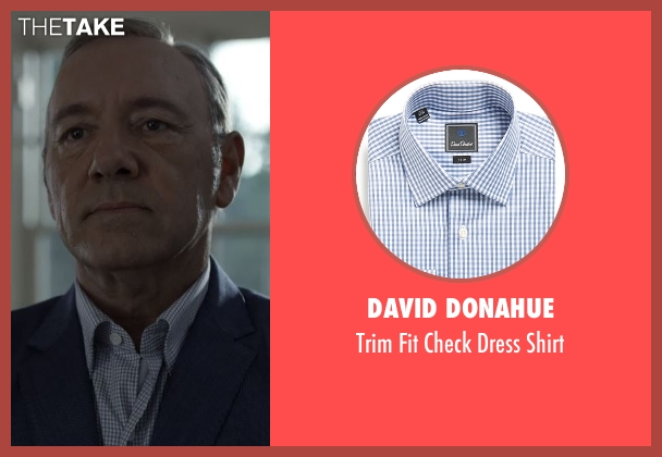 David Donahue blue shirt from House of Cards seen with Frank Underwood (Kevin Spacey)