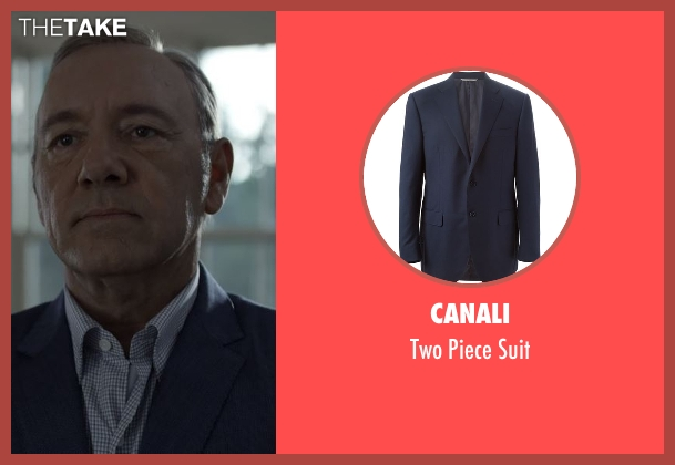 Canali blue suit from House of Cards seen with Frank Underwood (Kevin Spacey)