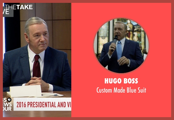 Hugo Boss blue suit from House of Cards seen with Frank Underwood (Kevin Spacey)