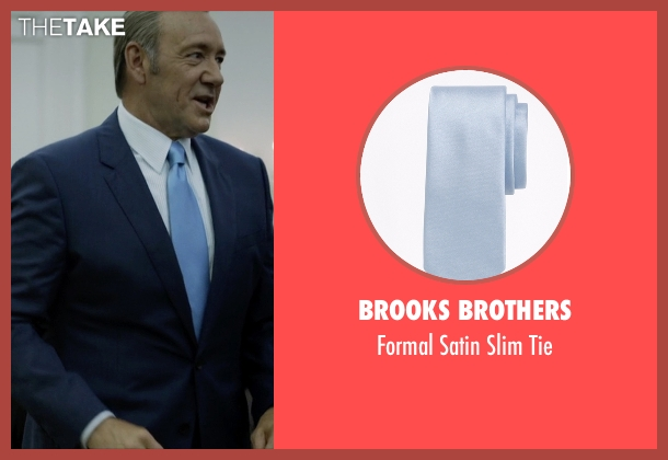 Brooks Brothers blue tie from House of Cards seen with Frank Underwood (Kevin Spacey)