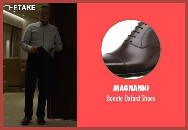 Magnanni brown shoes from House of Cards seen with Frank Underwood (Kevin Spacey)