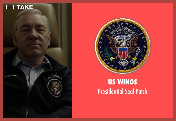 US Wings patch from House of Cards seen with Frank Underwood (Kevin Spacey)