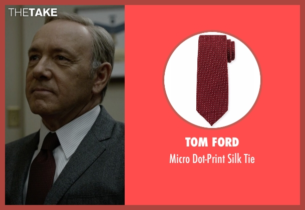 Tom Ford red tie from House of Cards seen with Frank Underwood (Kevin Spacey)