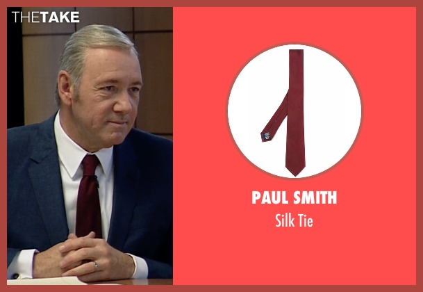 Paul Smith red tie from House of Cards seen with Frank Underwood (Kevin Spacey)