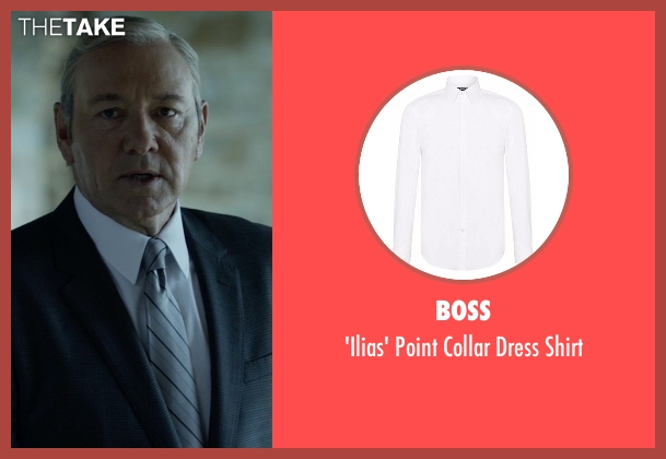 Boss white shirt from House of Cards seen with Frank Underwood (Kevin Spacey)