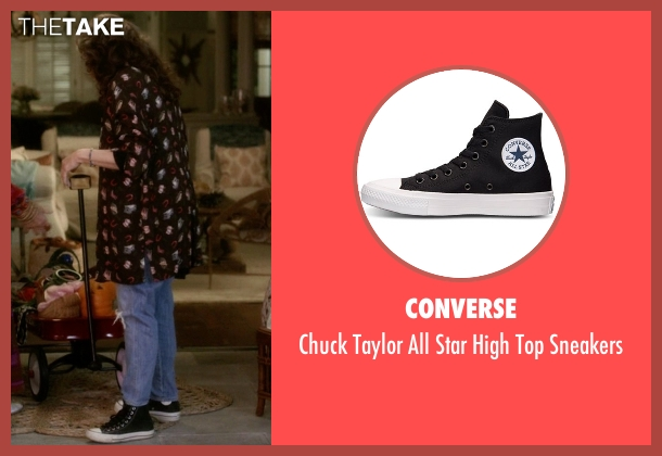 Converse black sneakers from Grace and Frankie seen with Frankie Bergstein (Lily Tomlin)