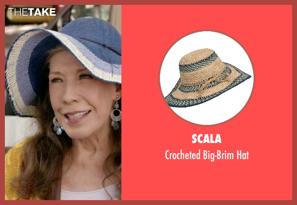 Scala blue hat from Grace and Frankie seen with Frankie Bergstein (Lily Tomlin)
