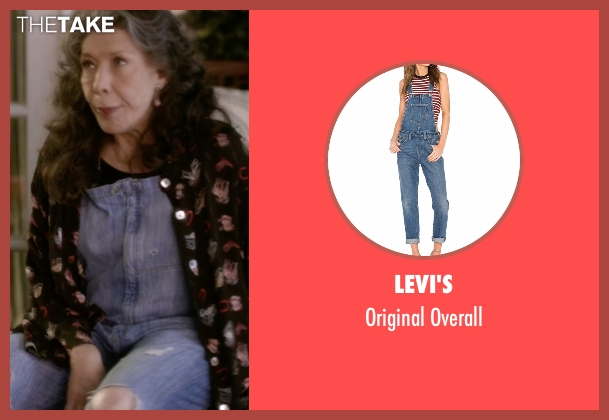 Levi's blue overall from Grace and Frankie seen with Frankie Bergstein (Lily Tomlin)
