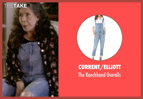 Unif blue overalls from Grace and Frankie seen with Frankie Bergstein (Lily Tomlin)