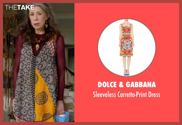 Dolce & Gabbana dress from Grace and Frankie seen with Frankie Bergstein (Lily Tomlin)