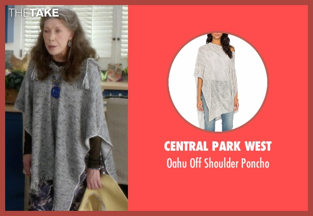 Central Park West gray poncho from Grace and Frankie seen with Frankie Bergstein (Lily Tomlin)