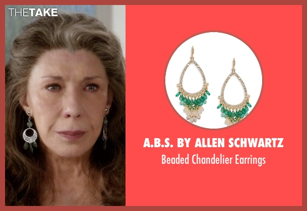 A.B.S. By Allen Schwartz green earrings from Grace and Frankie seen with Frankie Bergstein (Lily Tomlin)