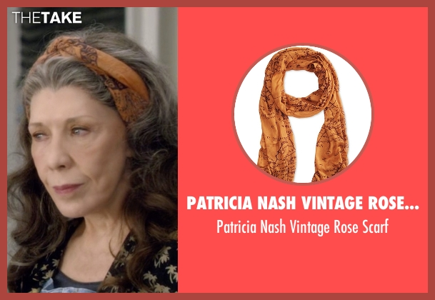 Patricia Nash orange scarf from Grace and Frankie seen with Frankie Bergstein (Lily Tomlin)