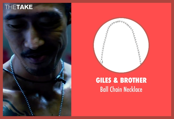 Giles & Brother silver necklace from Lucy seen with Frédéric Chau (Unknown Character)