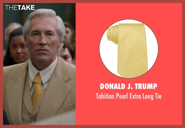 Donald J. Trump yellow tie from Anchorman 2: The Legend Continues seen with Fred Galle (Jack Lime's Weatherman)