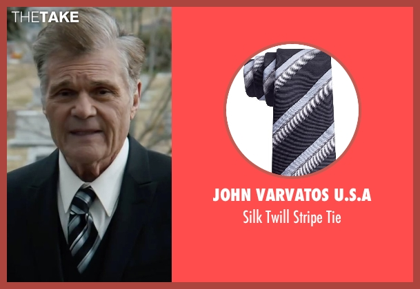 John Varvatos U.S.A black tie from Anchorman 2: The Legend Continues seen with Fred Willard (Ed Harken)