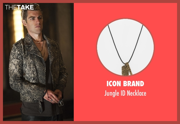 Icon Brand black necklace from American Horror Story seen with Gabriel (Max Greenfield)